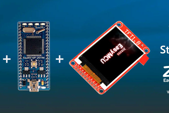 نمایش ویدئو روی TFT LCD رنگی توسط EasyMCU