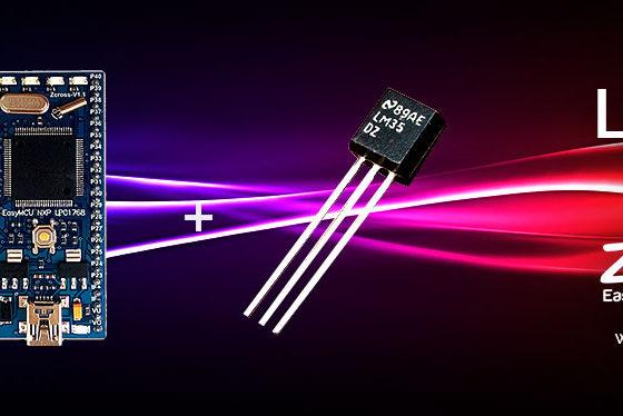 راه اندازی سنسور دما lm35 توسط Zcross